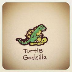 Turtle Godzilla #turtleadayjuly - @turtlewayne- #webstagram
