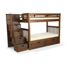 Colorado Stairway Bunk Bed With Bob-O-Pedic Twin Mattress