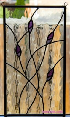 Stained glass panel with purple buds moxnme.com                                                                                                                                                                                 More