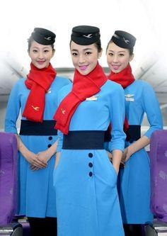【China】 Xiamen Airlines cabin crew / 厦門航空 客室乗務員 【中国】 Airline Uniforms, Xiamen, Cabin Crew, Flight Attendant, Female, Plane, Pilot, Asian, Girls