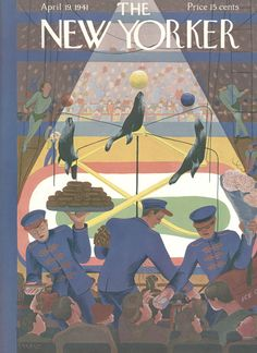 The New Yorker - Saturday, April 19, 1941 - Issue # 844 - Vol. 17 - N° 10 - Cover by : Ilonka Karasz