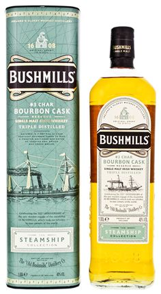 Bushmills Steamship Collection #3 Char Bourbon Cask Reserve Whisky Bar, Cigars And Whiskey, Malt Whisky, Scotch Whiskey, Bourbon Whiskey, Rum Bottle, Liquor Bottles, Smoked Whiskey, Irish Drinks