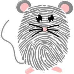 The big fingerprint ABC - crafting with a fingerprint Fingerprint mouse – handicrafts made easy! Handicrafts with fingerprints are great for handicraft Clay Crafts For Kids, Abc Crafts, Mouse Crafts, Alphabet Crafts, Diy And Crafts, Fingerprint Crafts, Mickey Mouse Christmas, Maila, Footprint Art