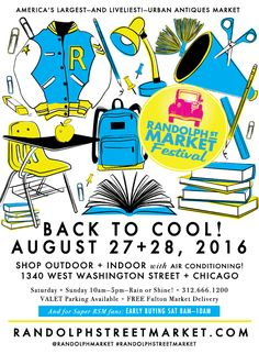 Shopping #Festival in Chicago August 27+28, 2016! 300 vendors indoors & outdoors with bands, food, drinks, a DJ & more! www.randolphstreetmarket.com - #FestivalinChicago #ShoppinginChicago