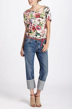 MiH The Phoebe - Anthropologie. still on the search for a relaxed fit vintage jean...this is a fun take on the hem...and love those shoes!