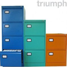 A premium steel filing cabinet from Triumph. One of the UK's most established manufacturers of steel office storage equipment. Free UK mainland delivery on Triumph Trilogy Filing Cabinets. Cafe Furniture, Cabinet Furniture, Home Office Furniture, Office Cabinets, Filing Cabinets, Cabinets Direct, Bench With Storage, Storage Ideas