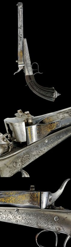 A rare Collette pistol .dating: third quarter of the 19th Century provenance: Belgium.