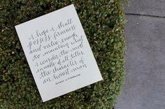 George Washington Handlettered Quote