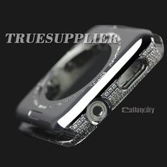 custom apple watch housing platinum plated with diamond