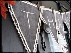 The Scrap Shoppe: DIY Chalkboard Bunting  Will Make this for Halloween - BOO!