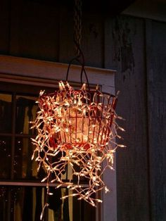 Great idea for casual outdoor lighting.