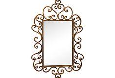 Gilded Wrought Iron Mirror on OneKingsLane.com