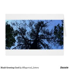 Greeting card, on Zazzle.  Store name: Allegorical_Littera.  Blank for your own message. Suitable for any occasion. A percentage from sales is donated to Multiple Sclerosis (MS) Research. Branching out. Painting. Art. Illustration. Tree. Nature. Conservation.