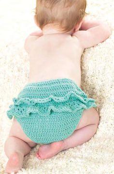 Crochet Baby Set: Pinafore Dress & Pants