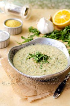 Vegan Peppery Artichoke Arugula Soup