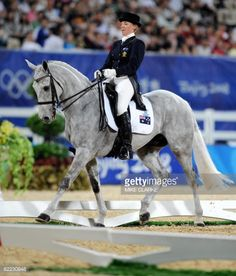 Megan Jones of Australia aboard Irish Jester with whom she finished fourth in the 2008 Beijing Olympic Games in individual eventing.