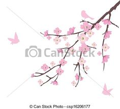 Vector - Cherry Blossom - stock illustration, royalty free illustrations, stock clip art icon, stock clipart icons, logo, line art, EPS picture, pictures, graphic, graphics, drawing, drawings, vector image, artwork, EPS vector art
