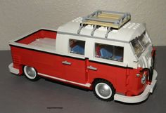Lego VW Doka by supermariolego (Volkswagen camper campervan kombi pick up crewcab) Volkswagen Bus, Vw Camper, Lego Camper, Kombi Pick Up, Lego Racers, Amazing Lego Creations, Lego Craft, Combi Vw, Vw Vintage
