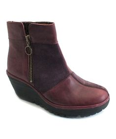 Look what I found on #zulily! Purple Patchwork Leather Yime Boot by FLY London #zulilyfinds