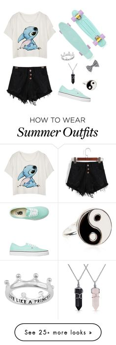 """""""Stich crop top summer outfit"""" by ribear626 on Polyvore featuring Vans, Monsoon, Bling Jewelry and Accessorize"""