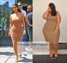 GarnerStyle   The Curvy Girl Guide: Celebrity Style Capture: Kim Kardashian & Rebdolls $600 Gift Card Giveaway