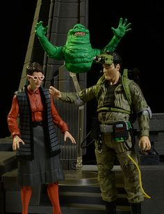 Ghostbusters Janine, Slimer, Ray action figures by Diamond Select Toys?