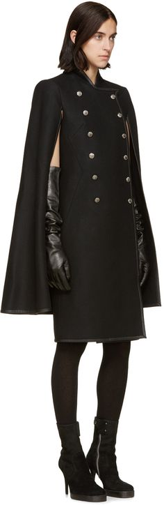 Haider Ackermann Black Long Leather Gloves
