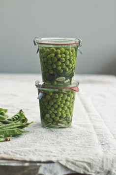 Refrigerator Pickled Peas