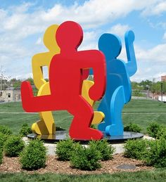 Keith Haring - Finally spring time: it's fun Outdoor Sculpture, Outdoor Art, Sculpture Art, Graffiti Drawing, Graffiti Art, Keith Haring Art, Street Art, Environmental Art, Land Art