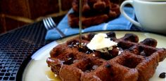"""Chocolate Waffles - PaleOMG says """"These are, hands down, the best waffles I've made so far."""""""