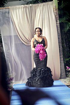 R&B Diva Monifah's wedding dress