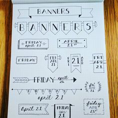 Header inspiration Bullet Journal Headers And Banners, Scribble, Bujo, Dots, School, Inspiration, Notebooks, Stitches, Biblical Inspiration