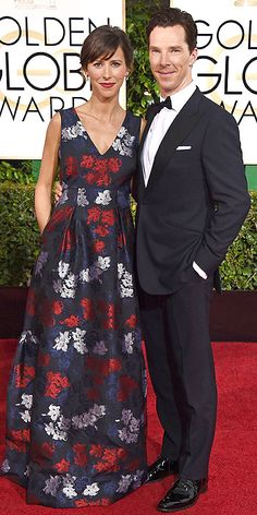 Sophie Hunter (in Erdem) and Benedict Cumberbatch at the 2015 Golden Globes