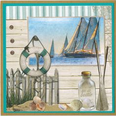 Met dit 3D stansblok van Studio Light maak je 12 fantastische kaarten. Titel: Summer at the beach is verkrijgbaar bij www.multihobby.nl Nautical Cards, Beach Cards, Sea Theme, Studio Lighting, Decoupage, Seaside, Cardmaking, Vand, Ocean