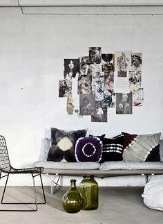 (all but grid chair bleck) - Olsson & Jensen  Batik fabric cushions