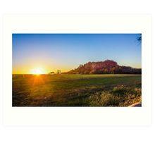Sunset at Hanging Rock, Victoria Art Print