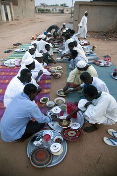 Ramadan in El Fasher (North Darfur) (by Albert Gonzalez Farran)    13 August 2010. El Fasher: Muslim People from Turba celebrate Ramadan. In the picture, neighbourhood from Al-Mahad area in El Fasher celebrate the dinner together. Photo by Albert Gonzalez Farran / Unamid