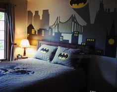City Skyline Decal Batman Vinyl Wall Decal by StunningWalls