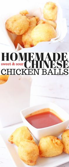 Homemade Sweet and Sour Chinese Chicken Balls - Balls . - Homemade sweet and sour chinese chicken balls - Vegetarian Chinese Recipes, Authentic Chinese Recipes, Easy Chinese Recipes, Healthy Diet Recipes, Asian Recipes, New Recipes, Cooking Recipes, Recipies, Dinner Recipes