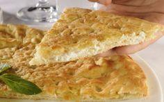 Focaccia di Sofia, com queijo robiola e azeite de trufas, do restaurante ítalo-americano Serafina