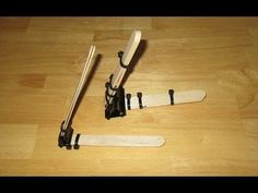 Binder Clip Catapults. These things have some serious power!