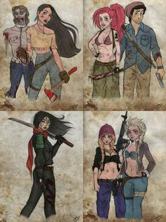 """muzqueenofdisney: """" I don't know about everyone else, but I think these need way more publicity. They were made by Kasami-Sensei, and are called """"The Walking Disney"""" """" Disney Pixar Movies, Disney Crossovers, Cartoon Crossovers, Disney Memes, Disney And Dreamworks, Disney Au, Dark Disney, Disney Fan Art, Disney Love"""