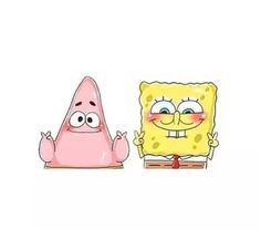 Imagem de spongebob, patrick, and transparent