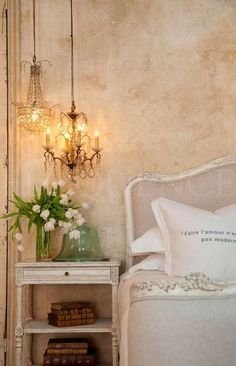 Light,walls And Side Table