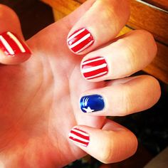 kittykat52's festive tips. Show us your 4th of July-inspired nails! Tag your pic #SephoraNailspotting to be featured on our social sites.