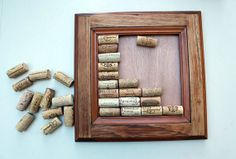 DIY Wine Cork Bulletin Board  #daytonaetsy