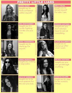 this is so true!!! they do teach us these things...i love pretty little liars...