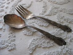 spoon only. 1847 Rogers Bros IS Silver Heritage Cold Meat Serving Fork & Scalloped Serving Spoon. $15.00, via Etsy. MAUREEN