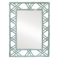 Bungalow 5 Claire Wall Mirror Light Blue from @LaylaGrayce #coastal #blue #mirror