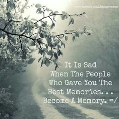 Hold onto the memories.......